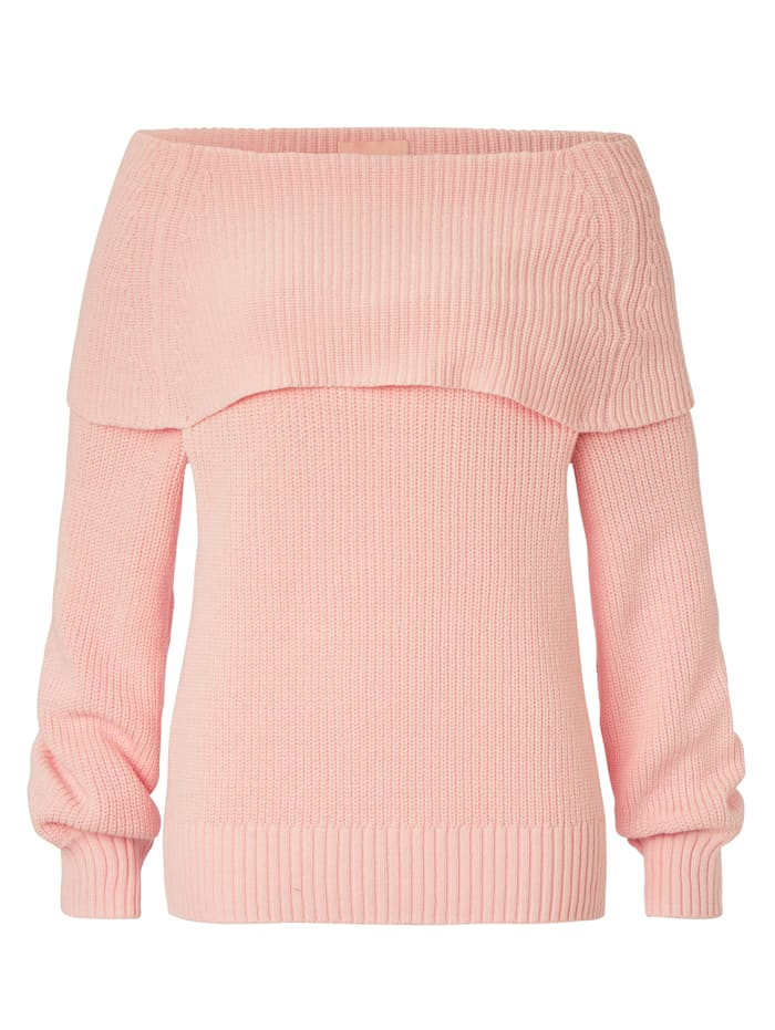 SIENNA Pullover Mit Carmenausschnitt, Rosé