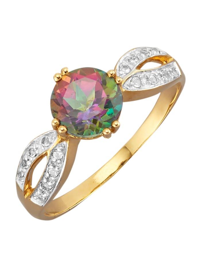 Damenring in Gelbgold 375, Multicolor