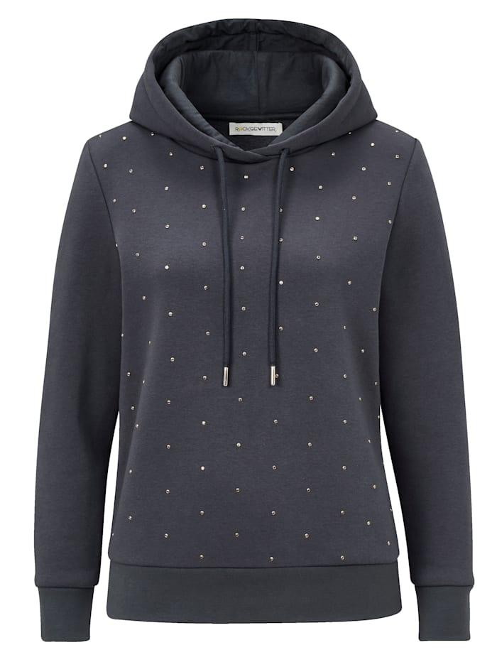 ROCKGEWITTER Sweatshirt mit Nieten, Dunkelgrau