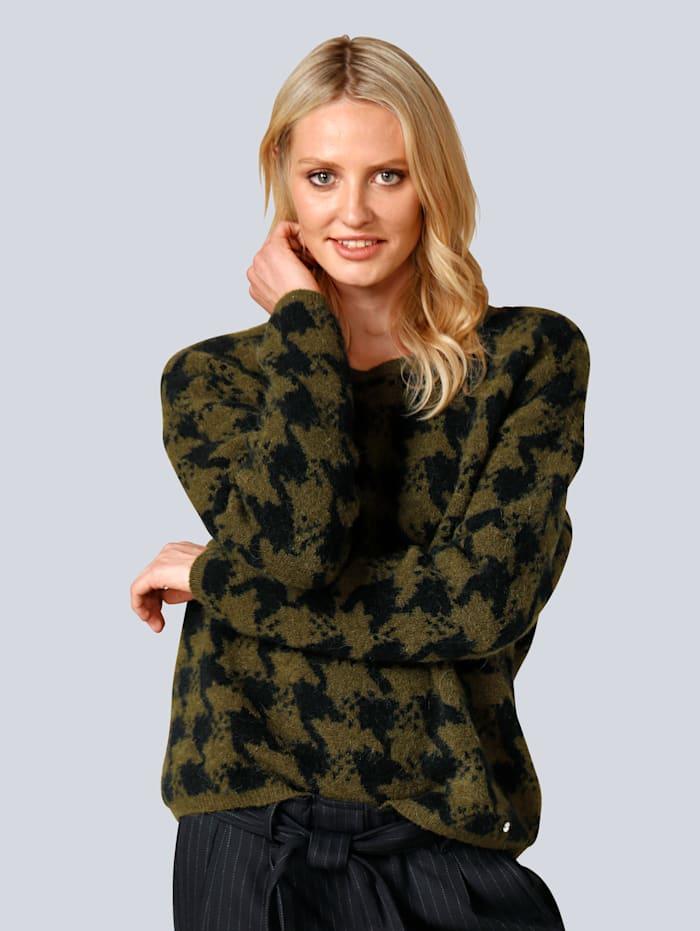 Pullover im schönen Hahnentrittmuster