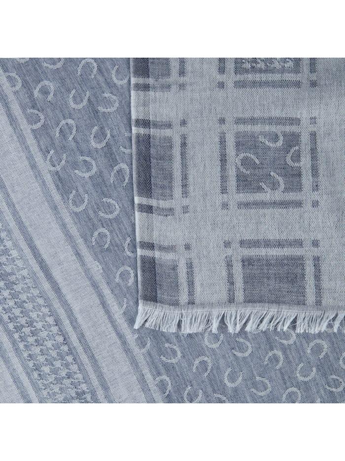 Logo-Schal aus Baumwolle und Wolle