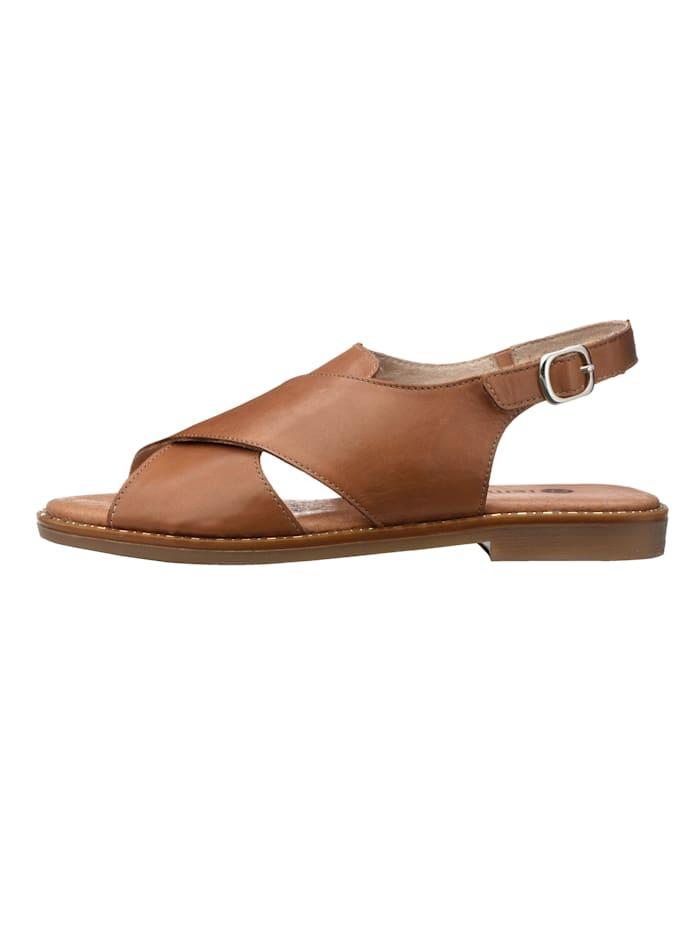 Sandaaltje met klittenband bij de hiel