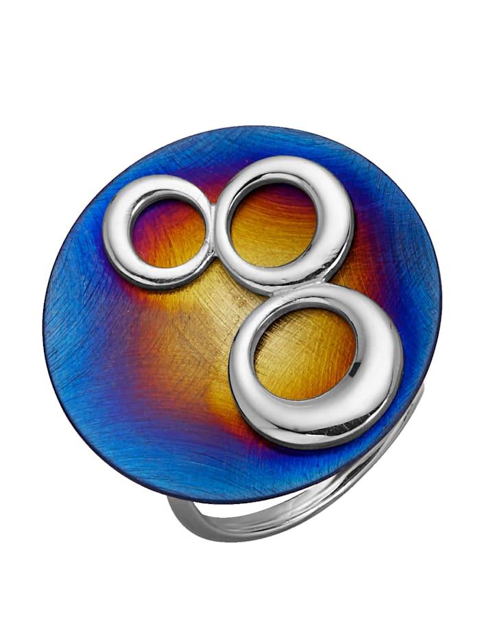 Damenring in Silber/Titan, Multicolor