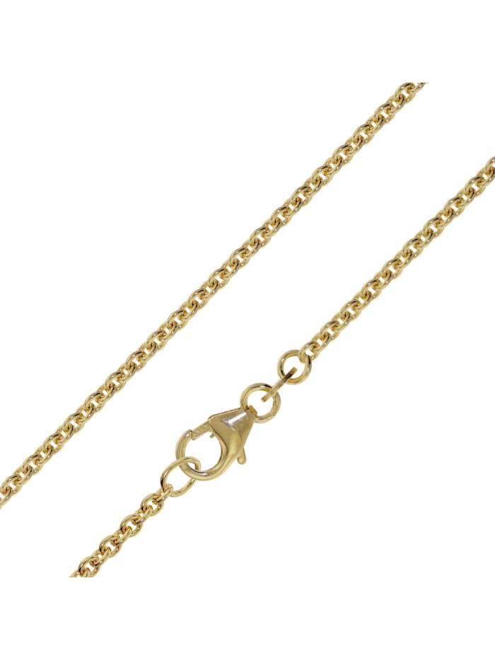 trendor Halskette Gold 333 / 8 Karat Ankermuster 2,0 mm, Goldfarben