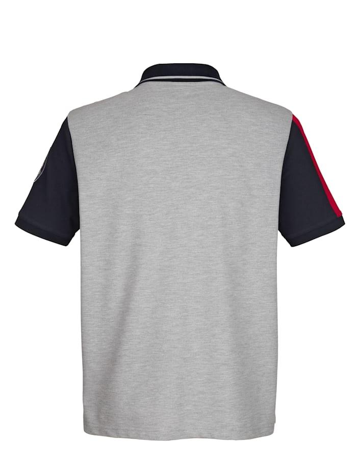 Poloshirt met mouwen in contrastkleur