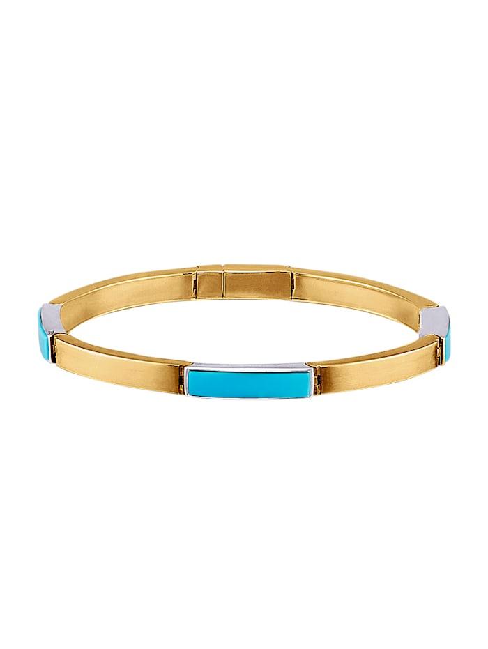 Diemer Farbstein Armband met turkooizen, Turquoise