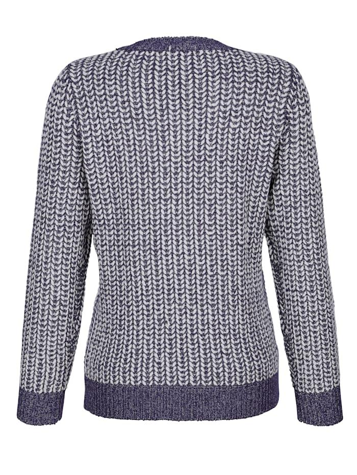 Pullover mit glänzendem Garn