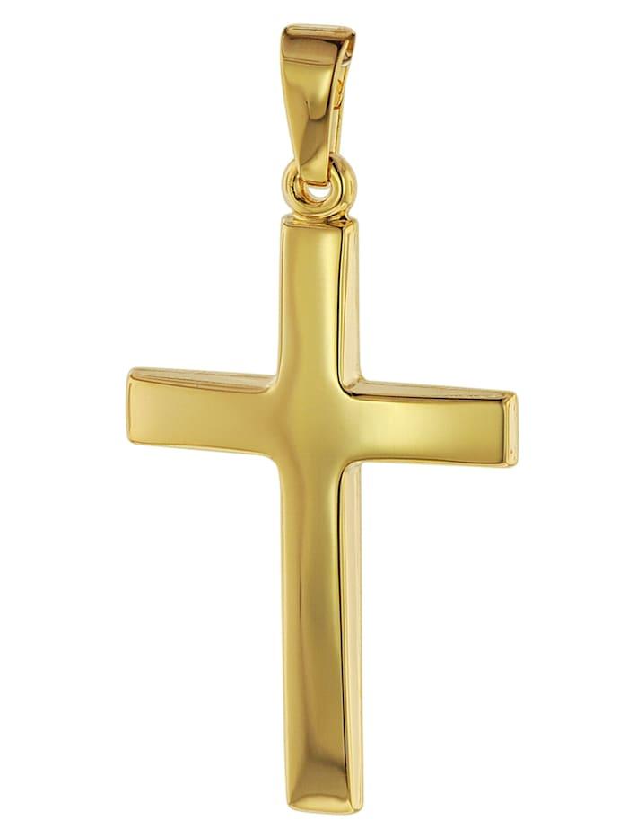 trendor Kreuz-Anhänger Gold 750 (18 Karat) 32 x 17 mm, Goldfarben
