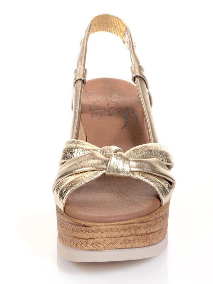 Sandalette mit effektvoller Knotenoptik auf der Front