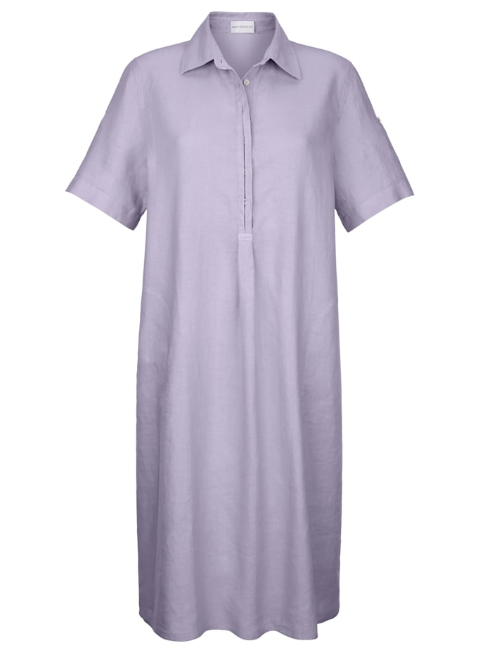 AMY VERMONT Kleid aus Leinen, Flieder