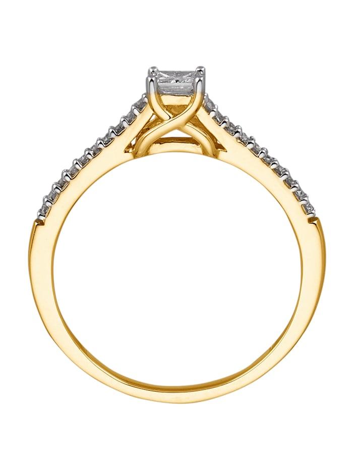 Damenring mit Diamanten