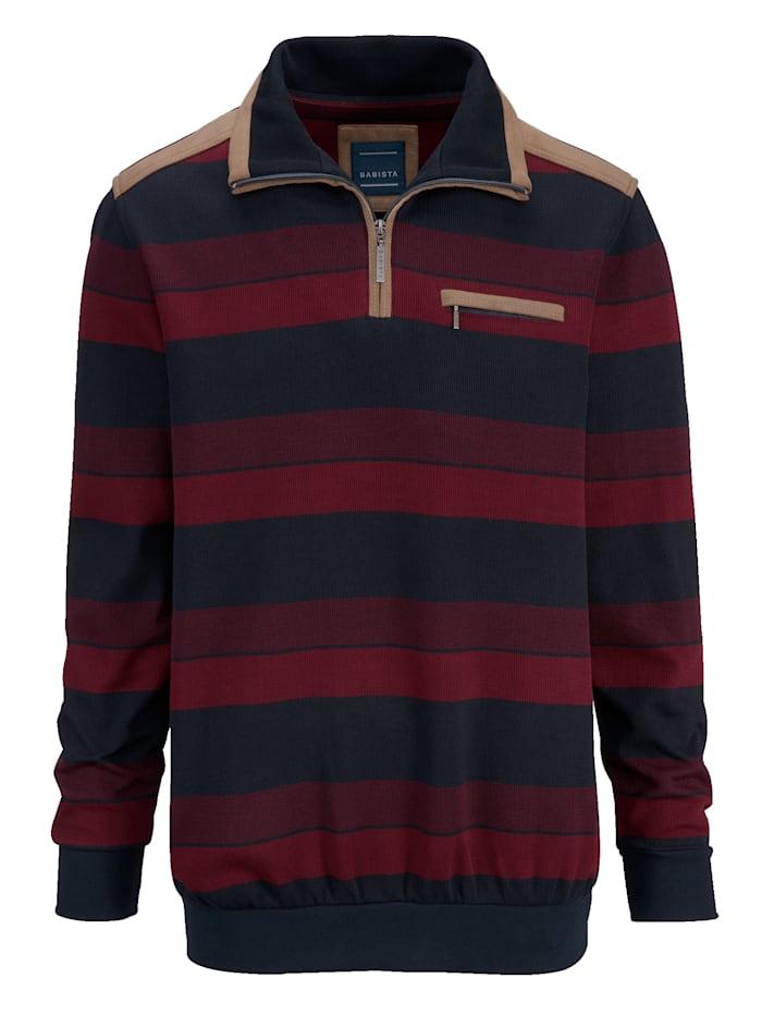 BABISTA Randig sweatshirt, Röd/Marinblå