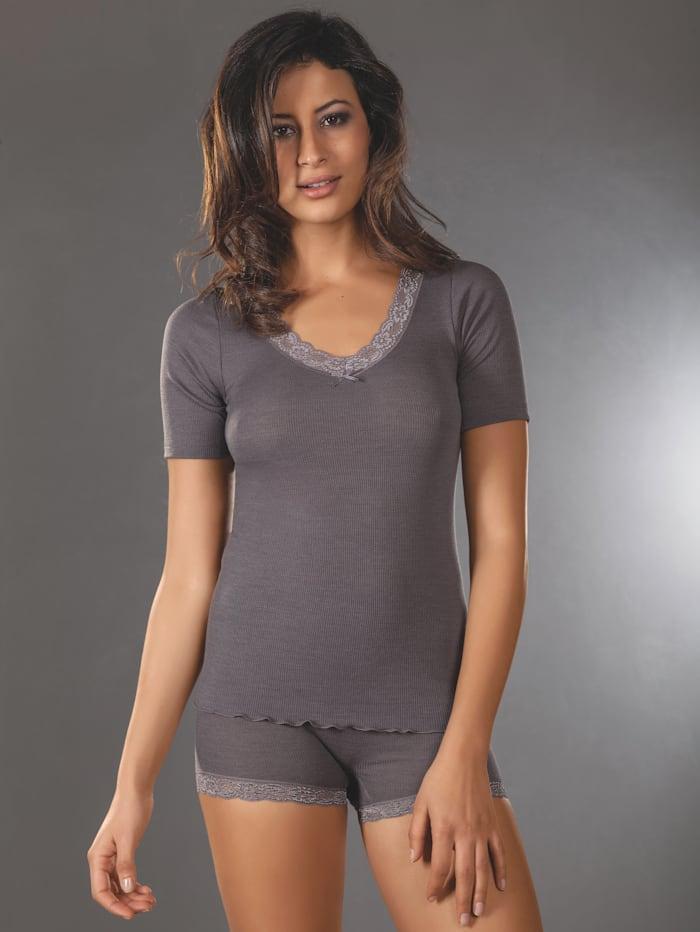 Nina von C. Shirt mit hohem Wollanteil, anthrazit