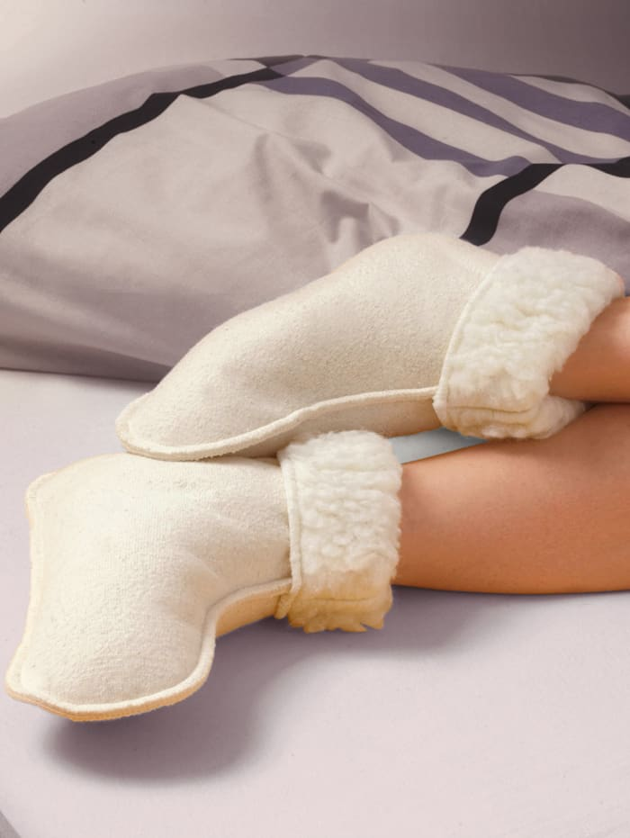 Chaussons de lit en laine vierge