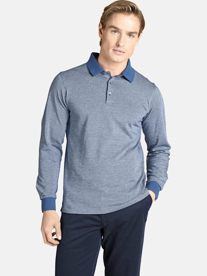 Charles Colby Charles Colby Langarm-Poloshirt EARL MORGAN, blau
