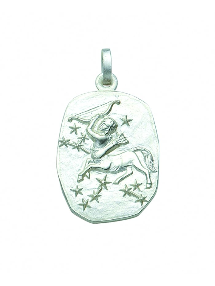 1001 Diamonds Damen & Herren Silberschmuck 925 Silber Sternzeichen Anhänger Schütze, silber
