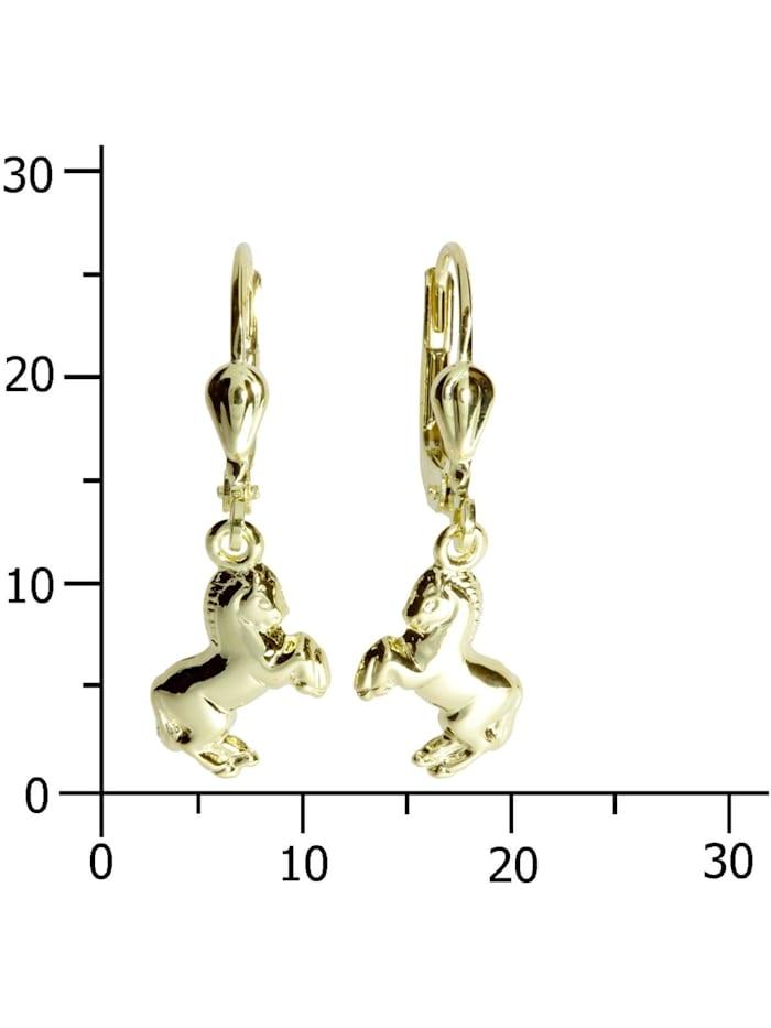 Ohrhänger Pferd Gold 333/000 ,