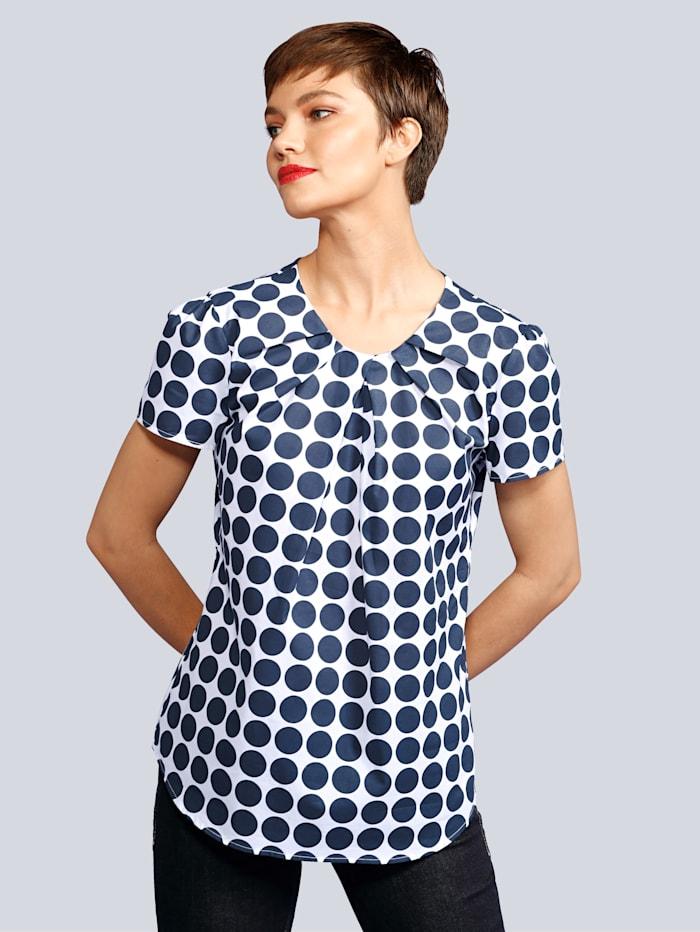 Seidensticker Blusenshirt aus reiner Baumwolle, Marineblau