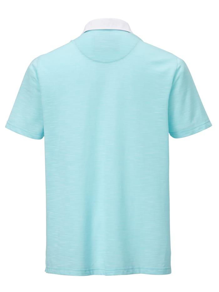Poloshirt in bicolor look