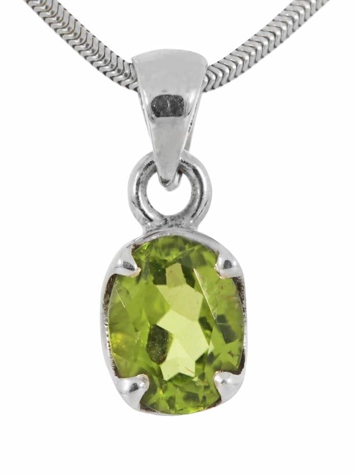 1001 Diamonds Damen Schmuck Edelstein Peridot Anhänger 925 Silber grün, grün