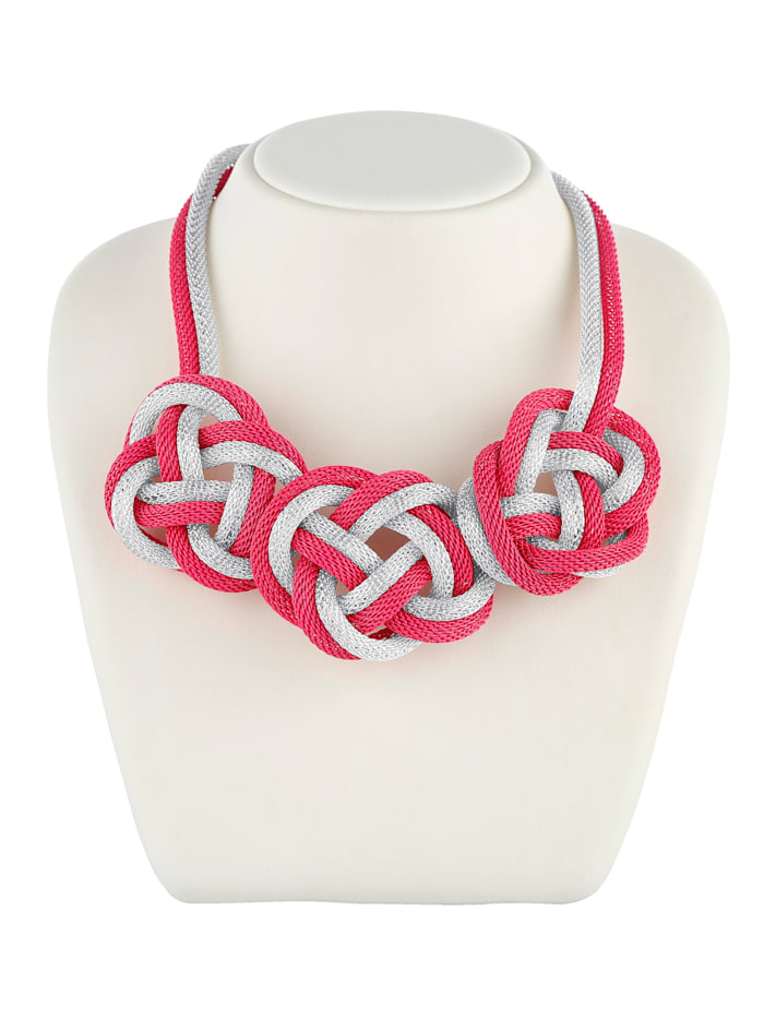 KLiNGEL Statement-Collier in Knotenoptik, Pink