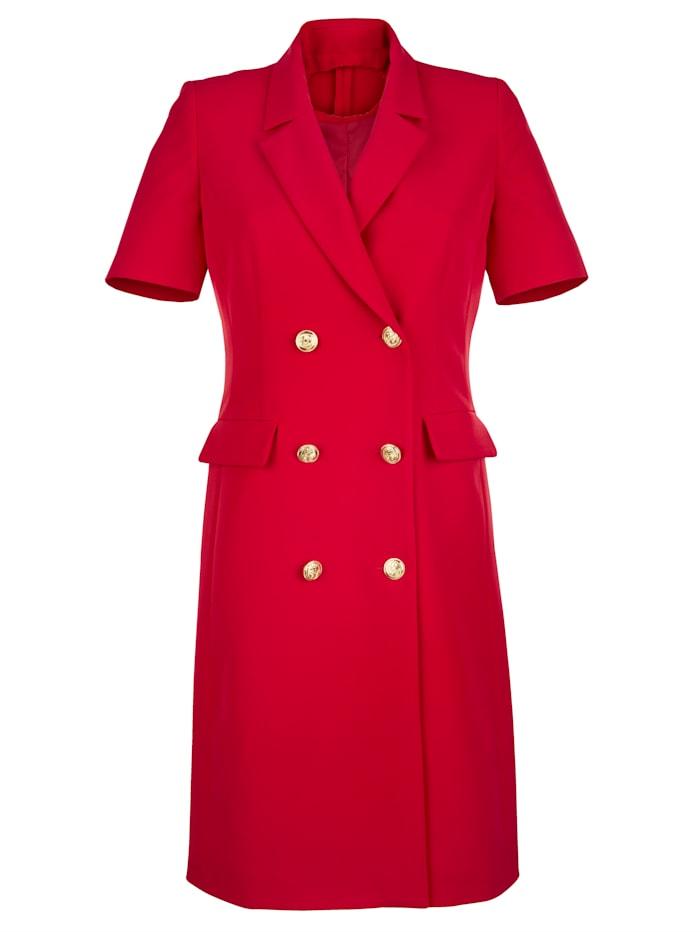 Alba Moda Blazerkleid mit doppelreihigem Verschluss, Rot