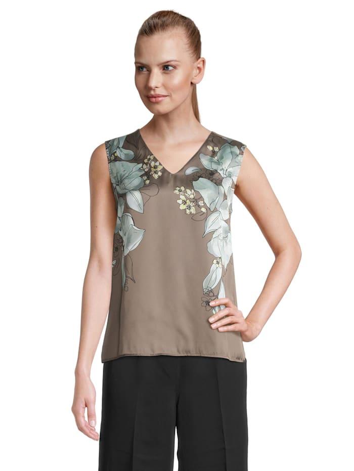 Betty & Co Printshirt ohne Arm, Grün