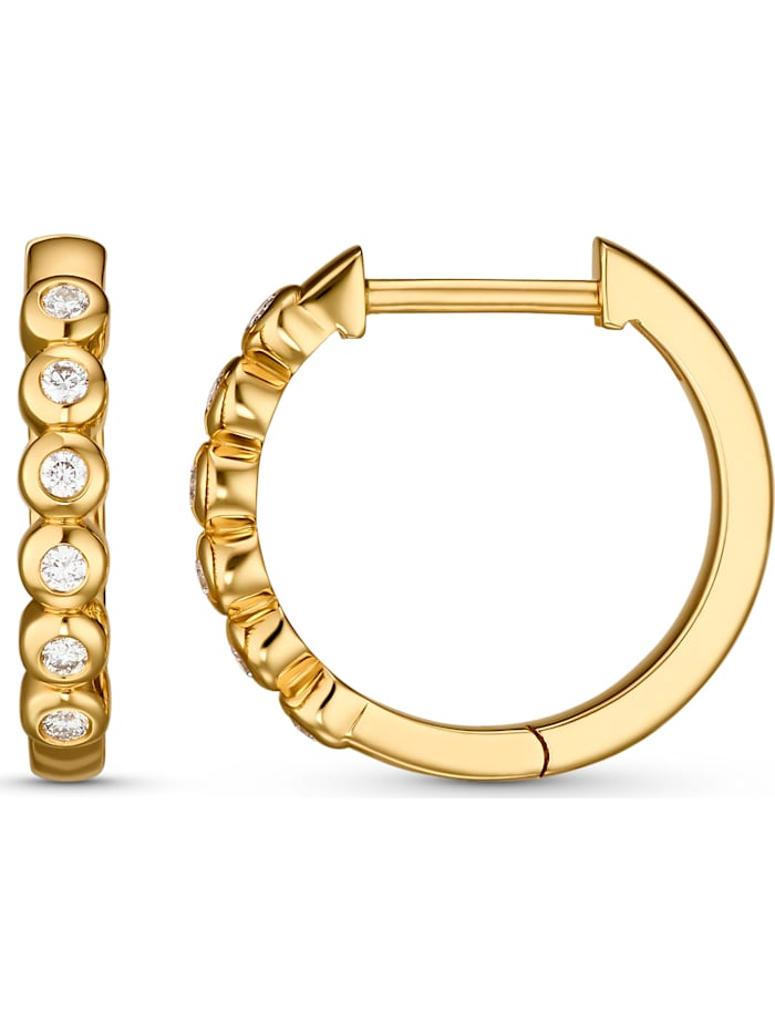 CHRIST Diamonds Damen-Creolen 12 Diamant