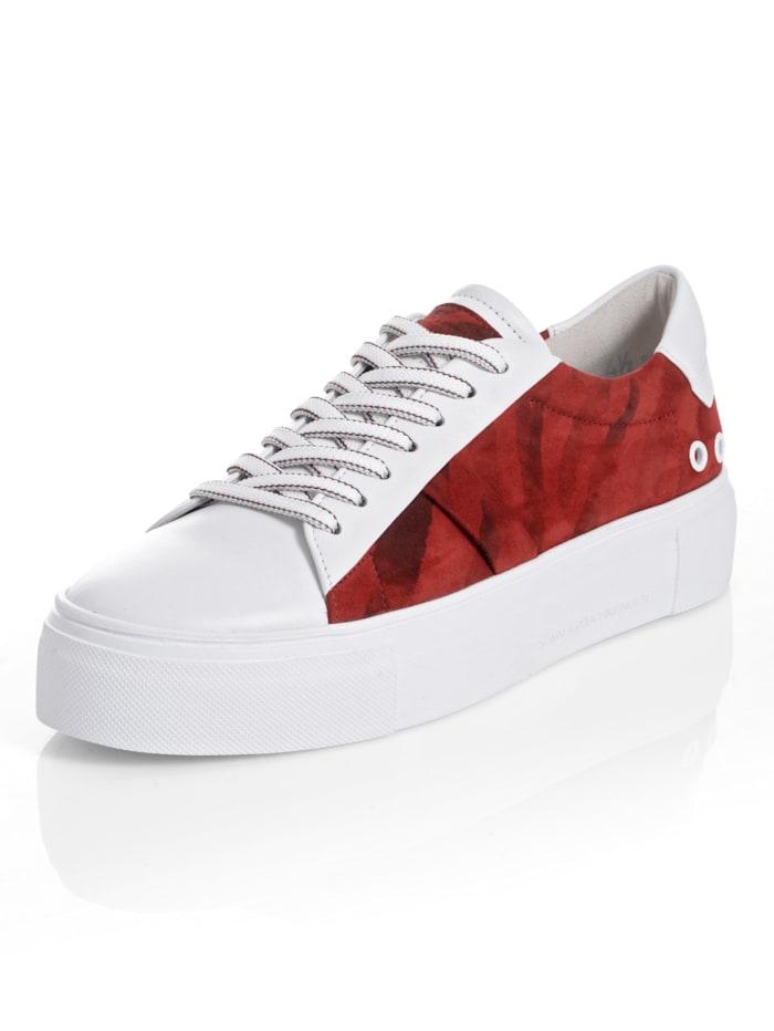 Kennel & Schmenger Sneaker als Trend-Highlight, Weiß/Rot