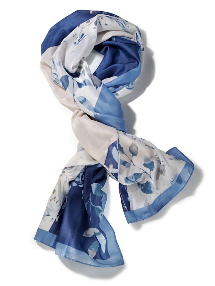 Schal, Blau