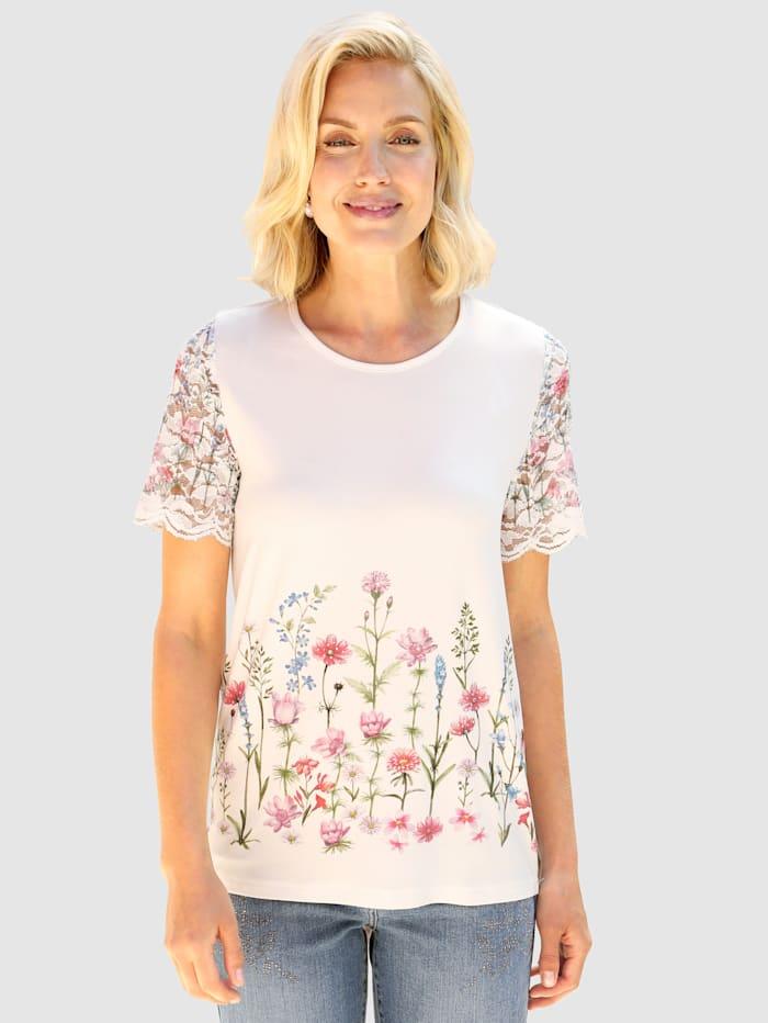 Paola Shirt met bloemenprint, Wit