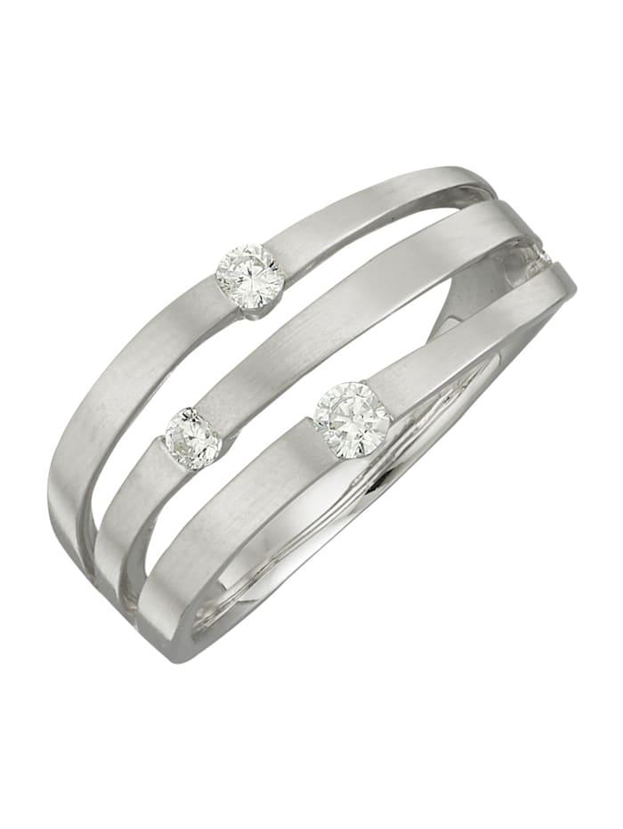 Diemer Diamant Damenring mit Brillanten, Weiß