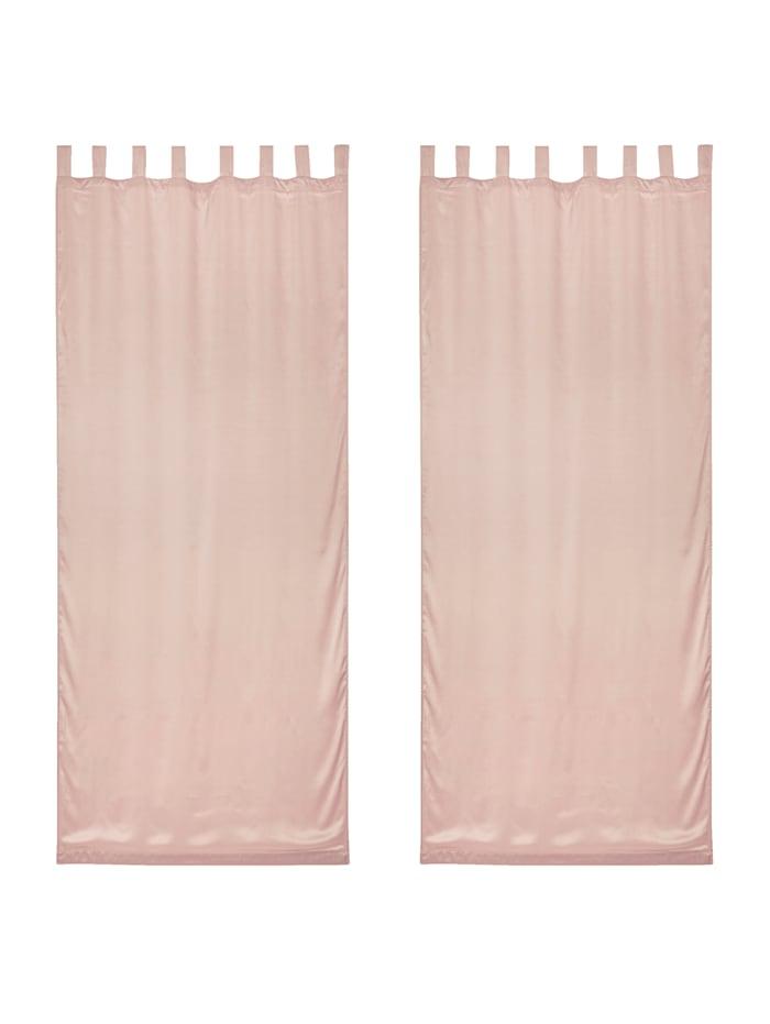 IMPRESSIONEN living Vorhang-Set, 2-tlg., taupe, rosé