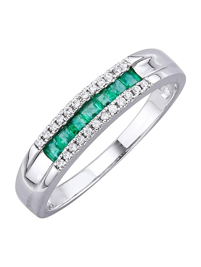 Ring med smaragder, Grön