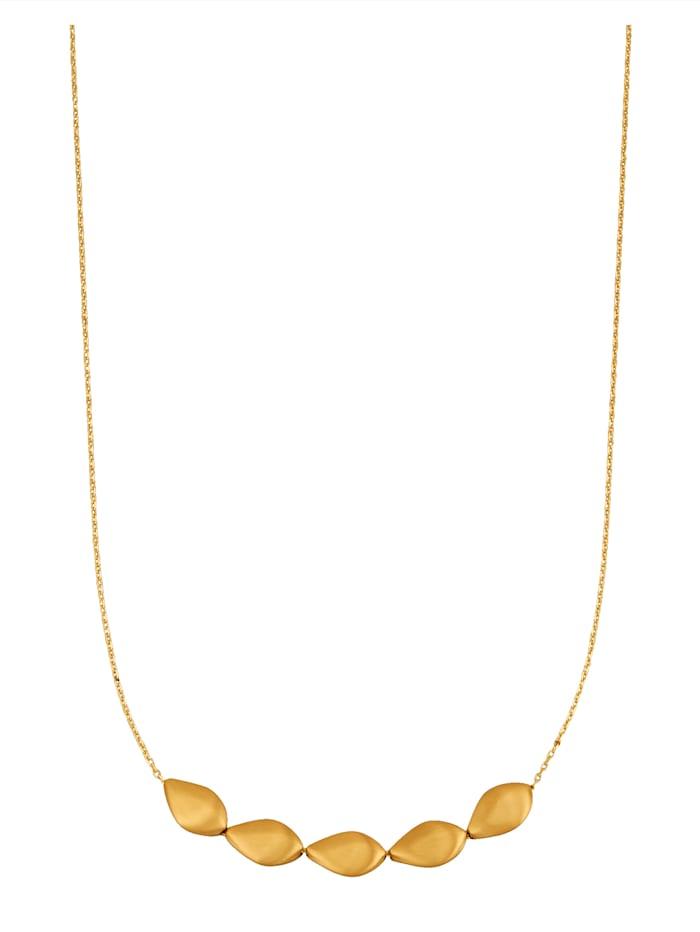 KLiNGEL Collier in Gelbgold 375, Gelbgoldfarben