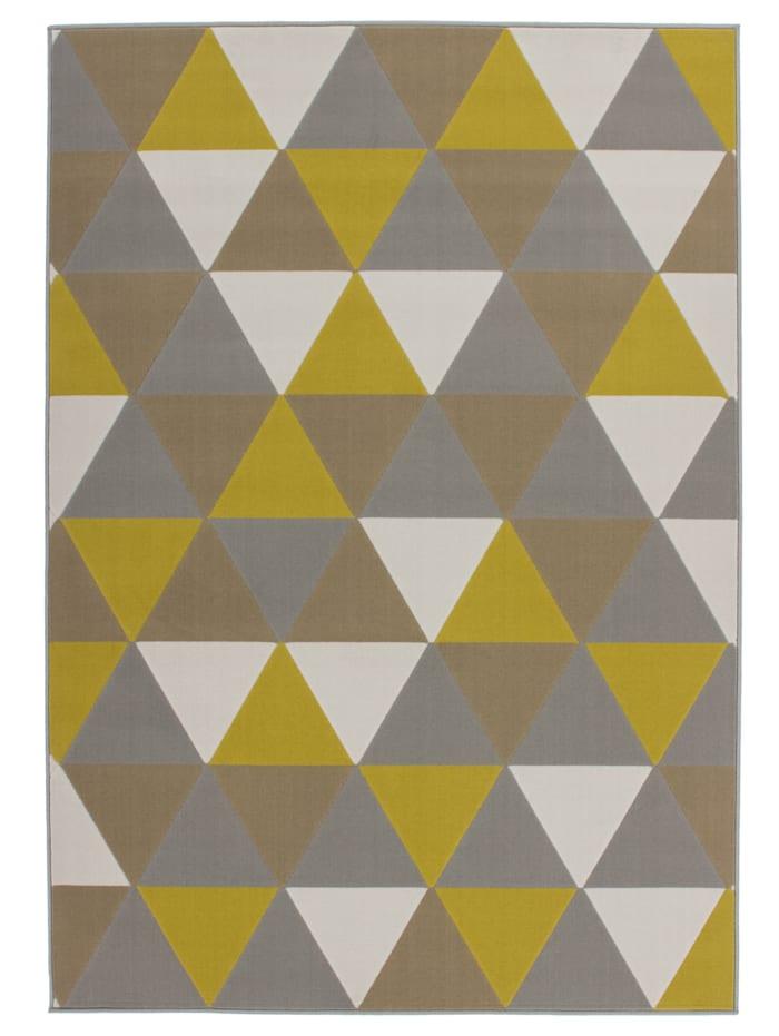 Kayoom Flachflorteppich Hans, Multi / Gold