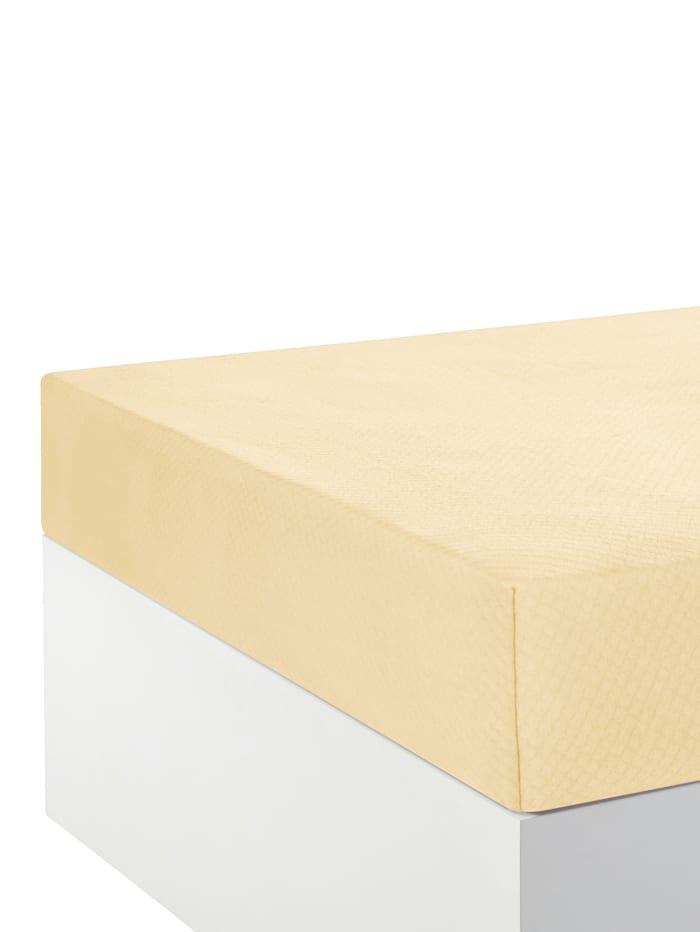 Webschatz Thermo Spannbettlaken, Creme-Weiß