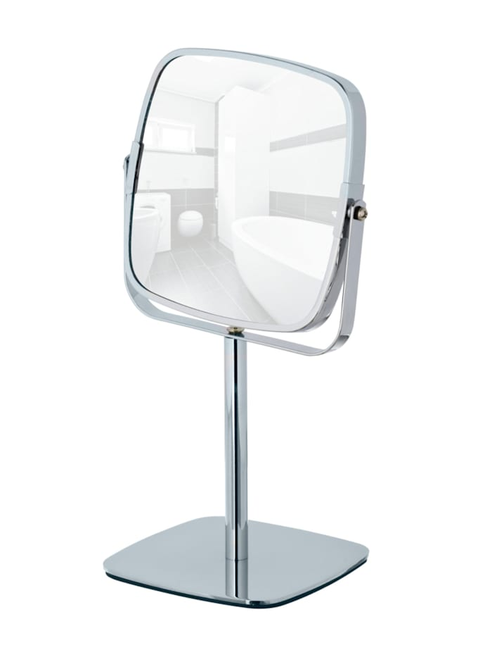 Wenko Kosmetikspiegel Kare, Standspiegel, 5-fach Vergrößerung, Chrom