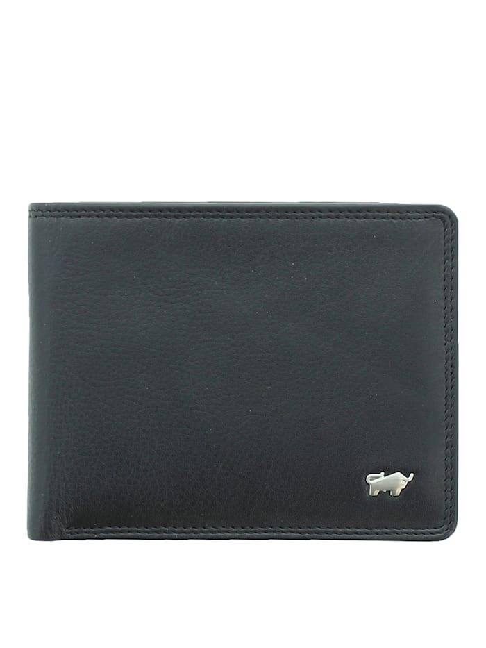 Braun Büffel Geldbörse GOLF 2.0 4 3CS in elegantem Design, schwarz
