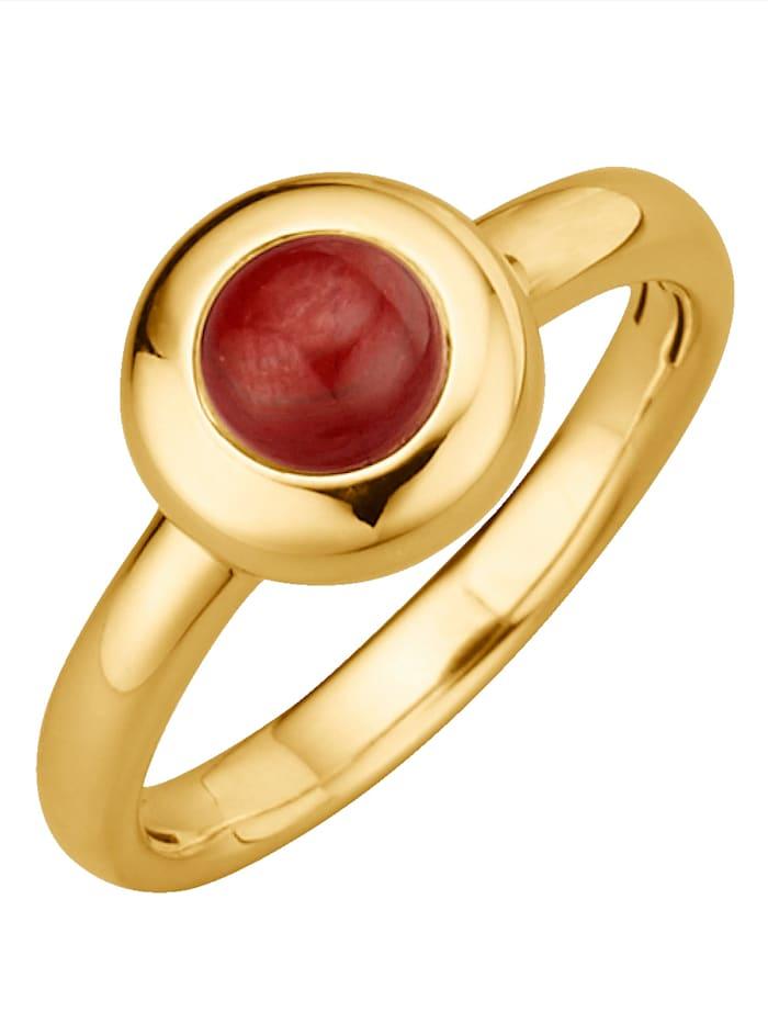 Diemer Highlights Sternzeichen-Ring Skorpion, Rot
