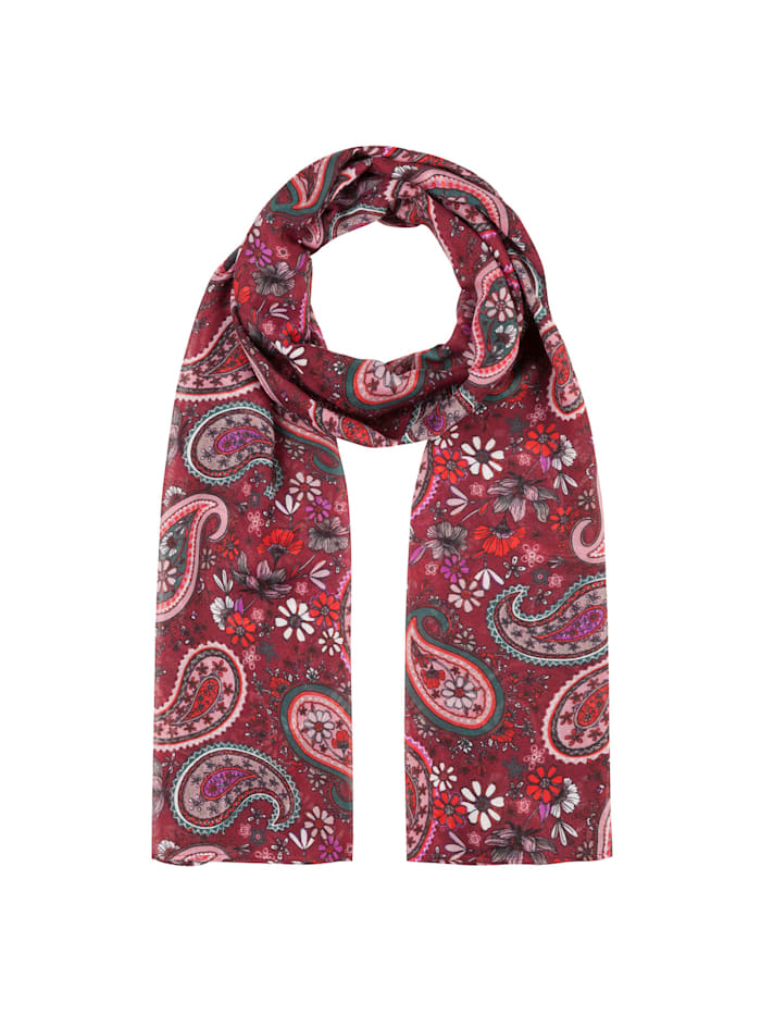 Codello Softweicher Paisley-Schal aus recyceltem Polyester, bordeaux