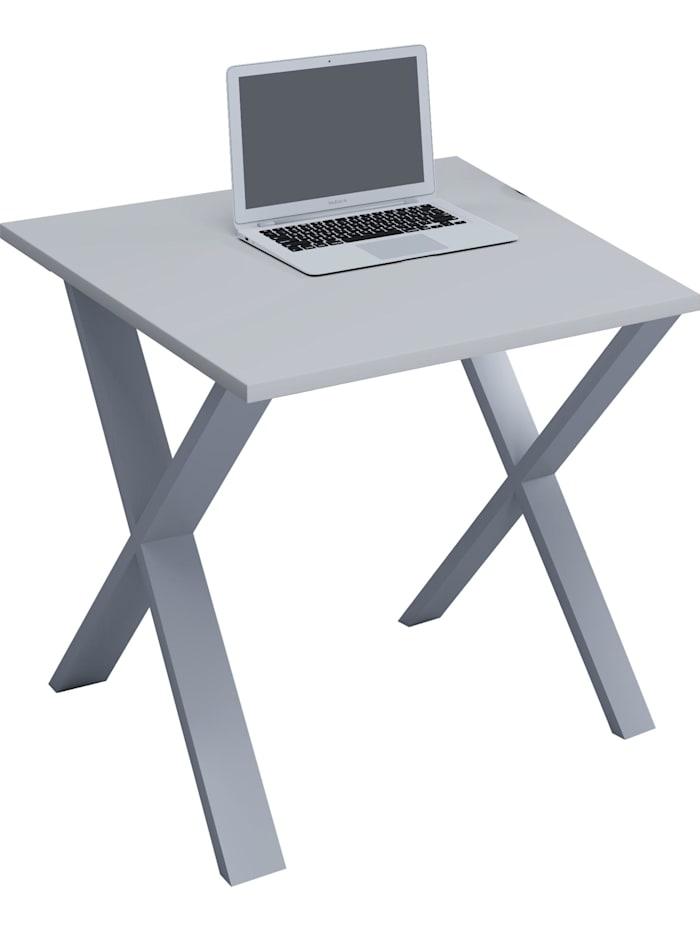 Büromöbel Schreibtisch Lona X Alu Silber