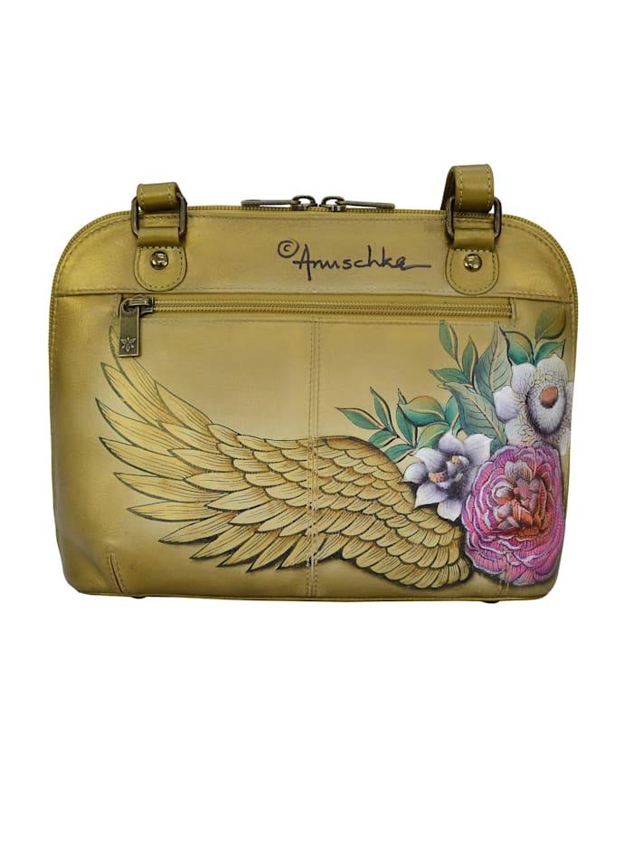 Umhängetasche Angels Wings aus handbemaltem Leder