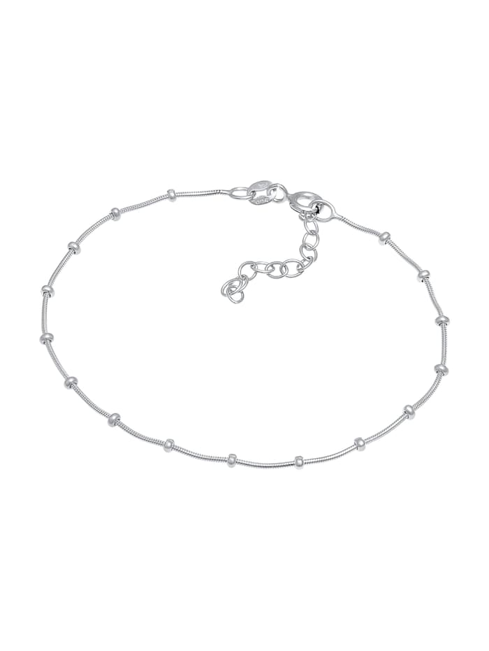 Armband Schlangenkette Kugeln Fein 925 Silber