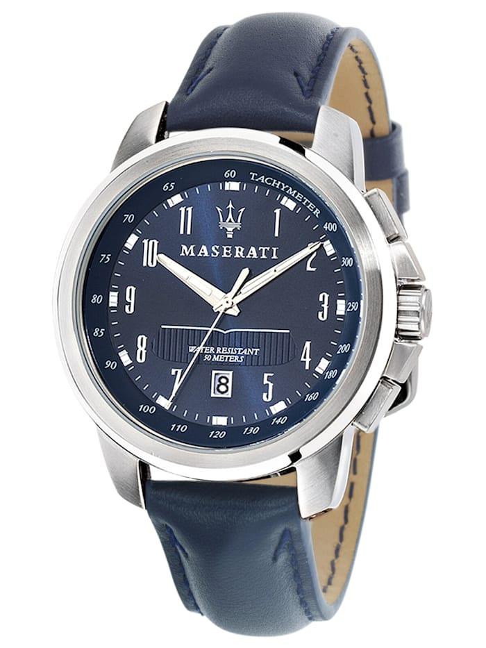 Maserati Successo Herrenuhr, Blau