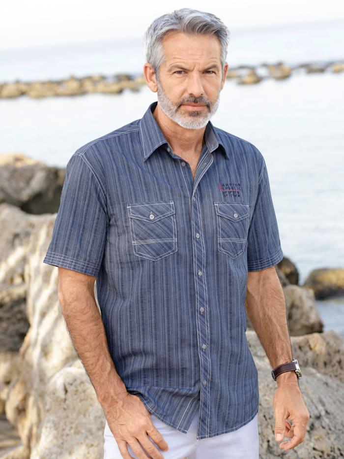 BABISTA Overhemd met twee sluitbare borstzakken, Marine