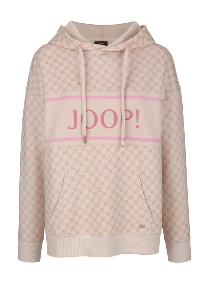 JOOP! Sweatshirt mit JOOP! Schriftzug, Creme-Weiß