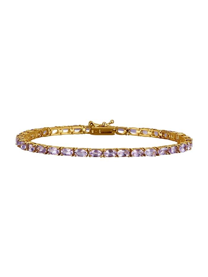 Bracelet avec améthyste, Lilas