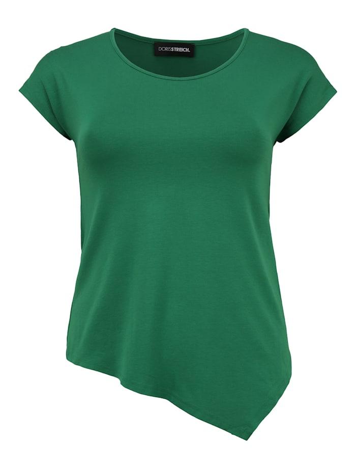 Doris Streich Shirt mit asymmetrischem Saum Ton-in-Ton-Nähte, gras