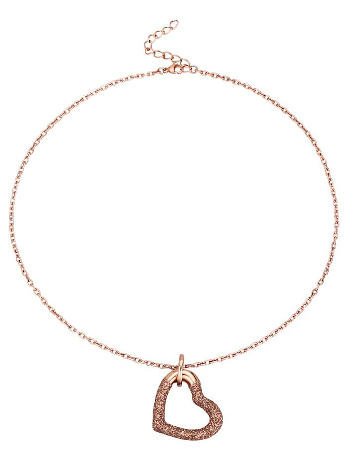 Hartvormige hanger met ketting